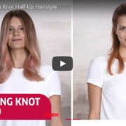 Bohemian Knot Half-Up Hairstyle