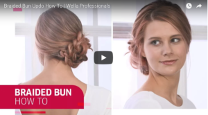 How To Do A Braided Bun Updo